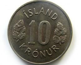 10 KRONUR 1967  COIN   J 430