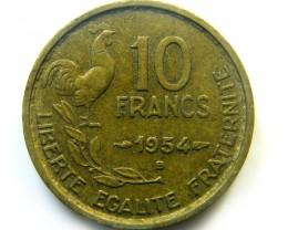 10 FRANCS FRANCE 1954  COIN   J 445