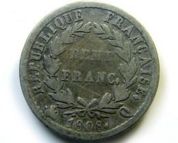 FRANCE 1808  COIN   J 448