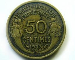 FRANCE 1933  COIN   J 449