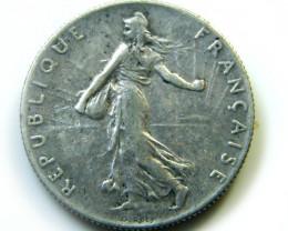 FRANCE 1902  50 CENT COIN   J 451