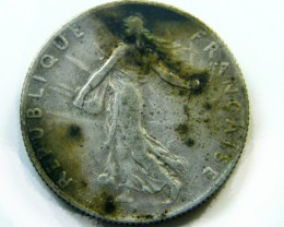 FRANCE 50 CENT 1908 COIN   J 452