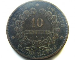 10 CENTIMES 1870 FRANCE  COIN   J 463