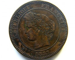 1877 10 CENTIMES FRANCE  COIN   J 468