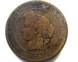 1879 10 CENTIMES FRANCE  COIN   J 475