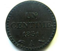 1852 FRANCE  COIN   J 481
