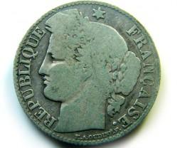 1872 FRANCE  COIN 50 CENTIMES   J 485