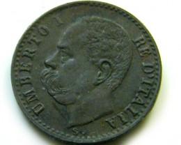 1900  ITALY  1 CENTESIMO    COIN   J 4