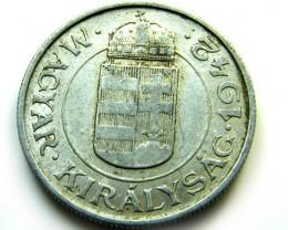 HUNGRAY 1942  COIN   J 495
