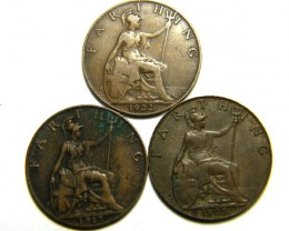 THREE FARTHING COINS           OP 461
