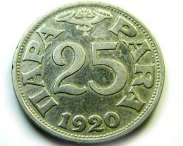 25 PARA YUGOSLAVIA  1920  COIN   J 501