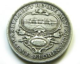 1927 CANBERRA FLORIN AUSRTALIA   SILVER COIN   J 4505