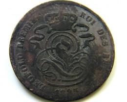 1825  2 CENT BELGIUM   COIN   J520