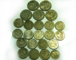 PARCEL23 MIXED SINGAPORE   COIN   J525