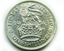 UNC  1945 GEORGE V1 SHILLING COIN    CO -220
