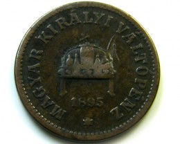 1895 HUNGRAY 2 FILLER COIN    CO -225