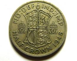 HALF CROWN    COIN   1948         OP 473