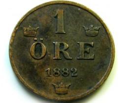 1882 SWEDEN 1 ORE   COIN   J576