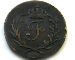 1821 GERMAN 1 HELLER   COIN   J589