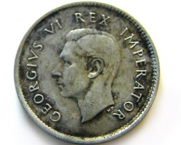 SOUTH AFRICA SILVER 3 PENCE 1939 COIN   J 612