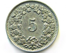 SWISS 5 CEMES  1926    COIN   J 639