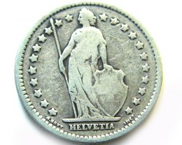 SILVER 1907 SWISS 1 FRANC    COIN   J 644