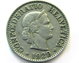 SWISS 10 CEMES   1929  COIN   J 648