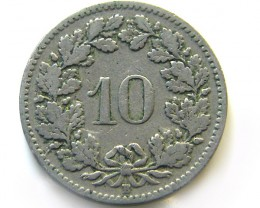 SWISS 20 CEMES   1906  COIN   J 654