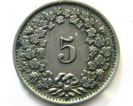 SWISS 5 CEMES    COIN  1931 J 658