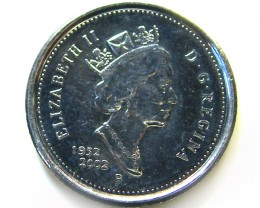 UNC 10 CENTS CANADA 2002 COIN J 663