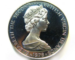 UNC VIRGIN ISL 1979 25 CENTS    COIN   J 682
