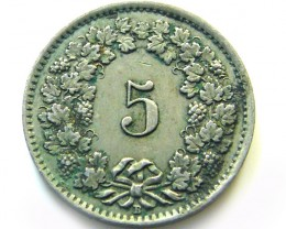 SWISS 5 CEMES   1944  COIN   J 690