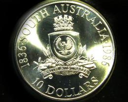 UNC 1986 STH AUSTRALIA JUBILEE SILVER COIN   CO -243