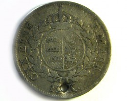 WILHELM KOENIG V WURTTEM 1864?  SILVER   COIN HOLED CO 265