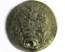 1787 AUSTRIA MARIA THALER 20 KREUZER COIN HOLED CO 269