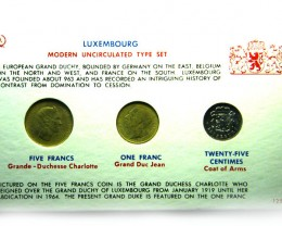 SET 3 UNC 1965 LUXEMBORG COIN SET 1965       J 691