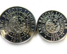 PAIR UNC PHILIPPINES COINS 1978   J 699