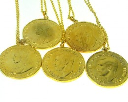 PARCEL FIVE AUSTRALIAN ONE PENNY COIN NECKLACE  CO 288