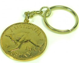 1945AUSTRALIAN ONE  PENNY COIN KEY RING   CO 302