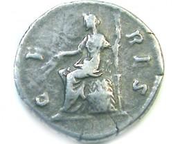 ROMAN SILVER DENARII FAUSTINA SENIOR  AC 448