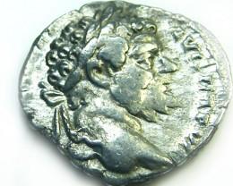 ROMAN SILVER DENARII  SEPTIMUS SEVERUS  AC 461