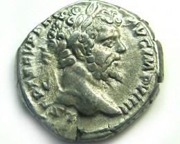ROMAN SILVER DENARII  SEPTIMUS SEVERUS  AC 465