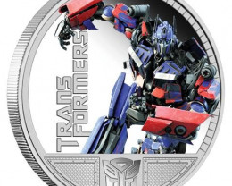 Transformers - Optimus Prime 1oz Silver   Coin