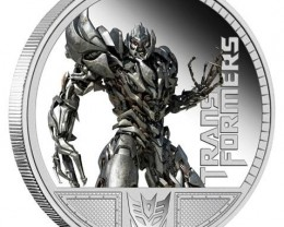 Transformers - Megatron 1oz Silver Proof  OFFICAL LIST PRICE