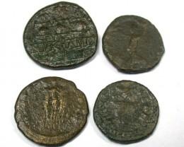 ROMAN PROVINCIAL PARCEL 4 COINS           OP 517