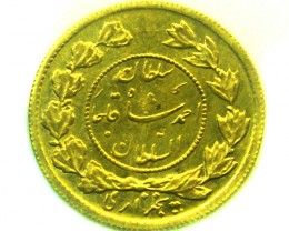 IRAN 1914 1/2 TOMAN  GOLD COIN    CO337