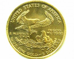 LIBERTY 2005  1/10 OUNCE FINE GOLD COIN    CO349