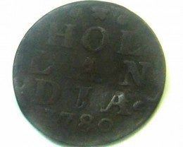 1780 DUTCH HOLLANDIA   COIN    CO354