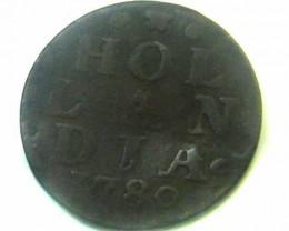 1780 DUTCH HOLLANDIA   COIN    CO354