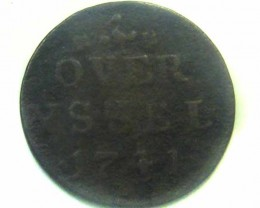 1741 DUTCH  OVERYSSEL  COIN    CO359